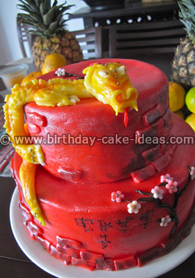 chinese new year cake, chinese cakes, year of the dragon