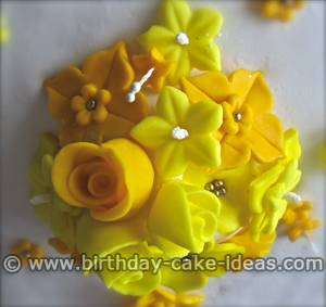 Flower Cake, Birthday Flower Cake
